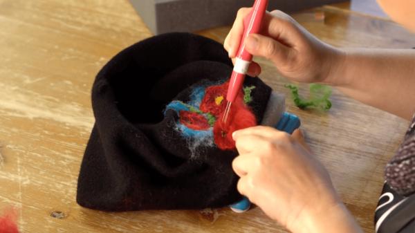 jak haftowac welna na berecie filcowanie iglowe na sucho kurs online