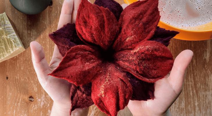 filcowanie na mokro podwojnych kwiatow lekcje wideo